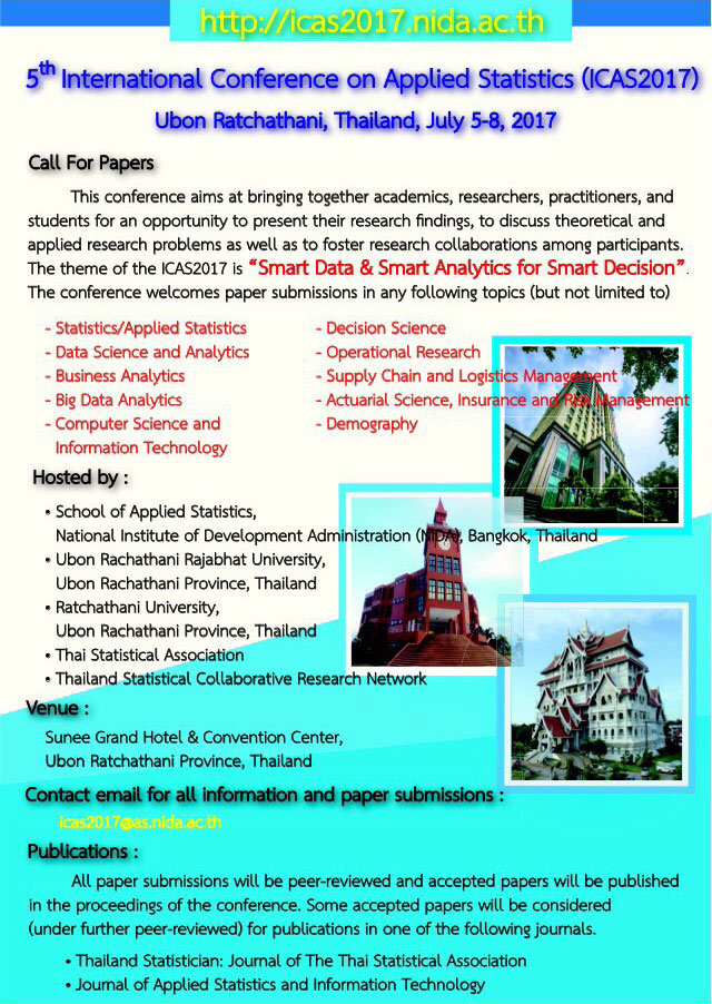 International Conference on Applied Statistics 2017 (ICAS 2017)