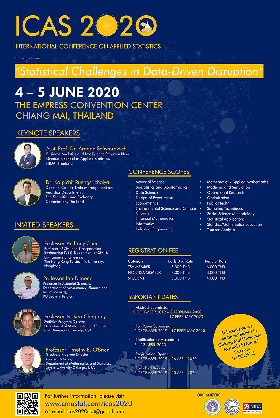 International Conference on Applied Statistics 2020
